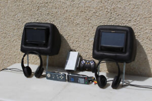 Pair of head rest DVD players