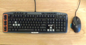 Logitech gaming keyboard and mouse for sale