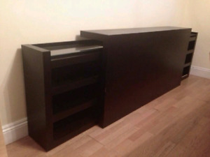 Ikea Malm headboard / storing drawers console