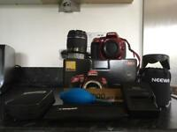 Nikon D5300 with accessories and bag warranty