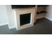 **** Contemporary LCD Electric Fire 2KW - Focal Point Nero ****