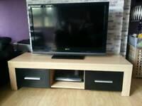 TV Unit 2 High Gloss black drawers