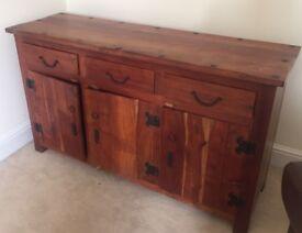 Solid African Oak Sideboard