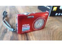Nikon Coolpix 3100 Digital Camera - Red, great condition