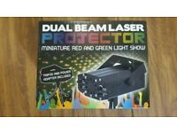 Dual beam laser projector red and green light show
