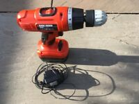 Cordless Drill. Black and Decker. Barely used