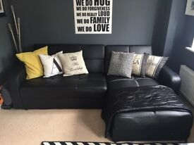 Leather corner sofa bed for sale