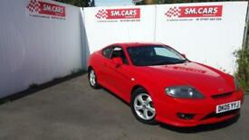 2005 05 HYUNDAI COUPE 1.6 S IN BRIGHT RED.AMAZING VALUE FOR MONEY.NEW CLUTCH.