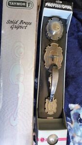 brand new Taymor pro solid brass gripset with dead bolt and keys