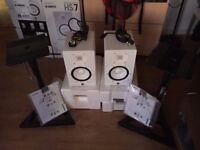 Yamaha HS7 White (Pair) With Stands like brand new (4 months old),perfect condition