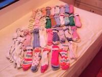 Next girls socks bundle 44 pairs size uk 12.5-3.5