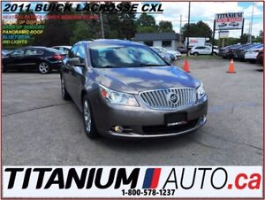 2011 Buick LaCrosse CXL+Pano Roof+Heated Leather+Heads Up Displa