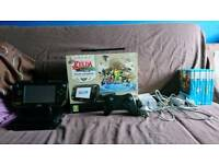 Wii U Zelda edition, with 10 games and controller