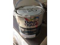 Dulux Diamond Mat paint. Grey