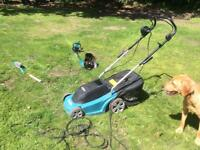 Makita Electric Lawnmower and Strimmer Set