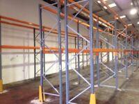 10 bay run of dexion pallet racking ( storage , shelving )