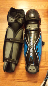 2 sets bauer ball hockey shinpads