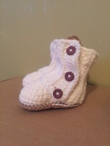 Kids crochet booties