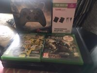 Xbox one immaculate condition with limited edition controller