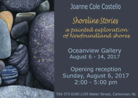 Shoreline Stories Art Exhibition by Joanne Cole Costello