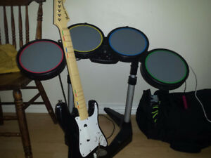Rockband guitar and drums