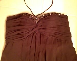 LIKE NEW, WORN ONCE - Formal Dress, Chocolate Brown, Size 12-14