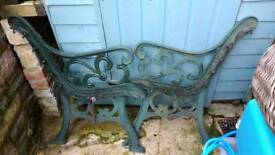 Wrought Iron Bench Ends-two sets
