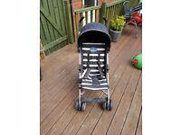 Baby Start Pushchair (black and white stripes)