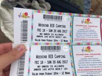 V festival tickets x 2 weekend (red camping)