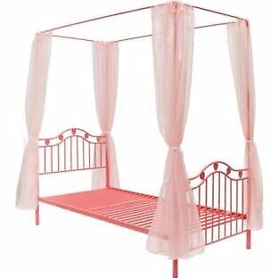 Pink 4 Poster Bed Girl's Pink 4 Poster Bed  In Disley Manchester  Gumtree