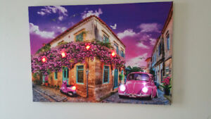 Moving Sale - LED lighted Canvas Wall Art