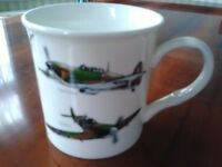 Leonardo Collection World War Classic Planes Mug and Haynes Spitfire Book