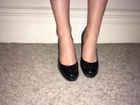Black Patent Platform Shoe