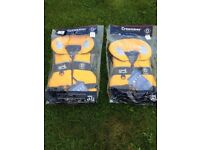 Two childrens brand new life jackets Crew Saver