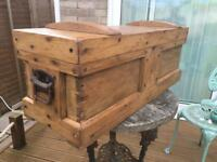 Victorian Pine Tool Chest or Trunk
