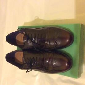 Burgundy smart Clarks shoes