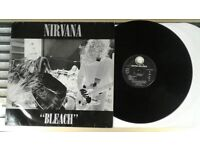 Nirvana ‎– Bleach, G, released on Geffen Records ‎in 1992, Grunge Rock Vinyl Record
