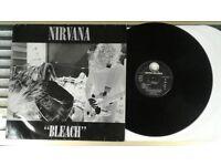 Nirvana – Bleach, G, released on Geffen Records in 1992, Grunge Rock Vinyl Record