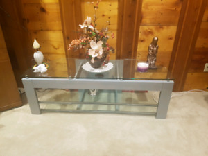 $100 Glass and metal tv stand