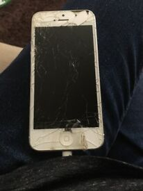 Broken screen iPhone