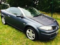Renault Megane 1.6 vvt dynamique s petrol 2007 convertable cabriolet leather seats cruise control