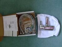 Chrome finish small square cloakroom mixer tap - boxed, brand new