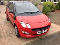 Smart car forfour pure style 1124cc Manual, black and red body