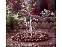 Pebble pool water feature