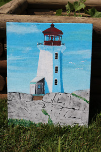 Peggy's Cove painting by Ethan Seely