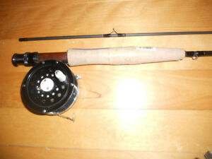 Canne moulinet mouche # 4, comme neuf, Fly rod and reel