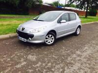 PEUGEOT 307 5 DOOR ONLY 53000 Miles 12 month mot £1295