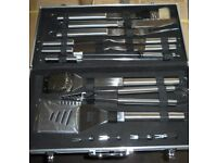 Ideal Birthday Present Heavy duty Stainless steel BBQ utentisle sets £25ea BRAND NEW ONLY5 sets left