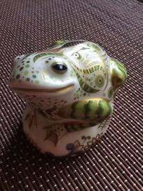 Crown Derby Limited Edition Toad