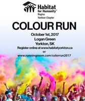 Colour Fun Run Habitat for Humanity Yorkton 5K
